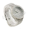 HIPHOP ICED OUT RAONHAZAE SILVER LAB DIAMOND WATCH MIAMI CUBAN CHAIN SX8 - Raonhazae