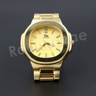 HIP HOP ICED OUT RAONHAZAE JESUS X GOLD PLATED FINISHED WATCH - Raonhazae