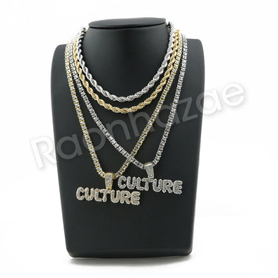 "BUBBLE CULTURE BUBBLE PENDANT W/ 24"" ROPE /18"" TENNIS CHAIN SC003 - Raonhazae"