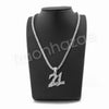 "21 SAVAGE SILVER PENDANT W/ 24"" ROPE /18"" TENNIS CHAIN NECKLACE - Raonhazae"