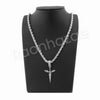 "ISSA KNIFE PENDANT SILVER W/ 24"" ROPE /18"" TENNIS CHAIN NECKLACE - Raonhazae"