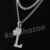 Crown L Initial Pendant Necklace Set. - Raonhazae