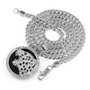 316L Stainless Steel Medallion Iced BLK Jaguar Pendant w/ 4mm Miami Cuban Chain - Raonhazae