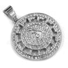 316L Stainless Freemasonry Grand Lodge Compass Pendant w/ 4mm Miami Cuba Chain - Raonhazae