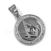 316L Stainless Freemason Grand Master Compass Pendant w/ 4mm Miami Cuba Chain - Raonhazae