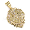 316L Stainless Blinged Out Drake Tiger Charm Pendant w/ 4mm Miami Cuban Chain - Raonhazae