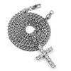 316L Stainless Blinged Out Mini Jesus Piece Charm Pendant w/ 4mm Miami Cuban Chain - Raonhazae