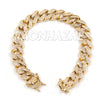 Raonhazae Iced Lab Diamond Busta Gold Watch w/ 15mm Cuban Bracelet Set - Raonhazae