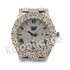 "HipHop ""Passion Fruit"" Silver Techno Pave Wrist Watch - Raonhazae"