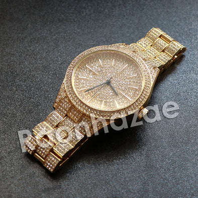 "Hip Hop ""Do Not Disturb"" Gold Wrist Watch - Raonhazae"