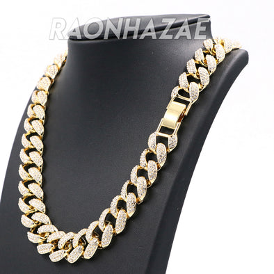 "Hip Hop Fully Iced Mens 18mm Heavy Miami Cuban Chain (Multiple Sizes 9"" - 36"") - Raonhazae"