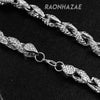 "Hip Hop Fully Iced Mens 10mm Heavy Rope Chain (Multiple Sizes 9""-36"") Silver - Raonhazae"