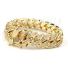 "ICED CUBAN PREMIUM 14K Iced GOLD PLATED SIMULATED DIAMOND 14MM 8.5"" BRACELET - Raonhazae"