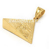 Hip Hop Stainless Steel Gold Egyptian 3D Pyramid Heru Pendant W Cuban Chain - Raonhazae
