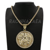 Hip Hop HUGE MEDUSA PENDANT Exclusive Pendant W/ Franco & Tennis Choker Chain Set - Raonhazae