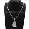 "Hip Hop PRAYING HANDS Exclusive Pendant W/ 18"" Franco Chain & Tennis Choker Chain Set - Raonhazae"