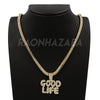 Hip Hop GOOD LIFE Pendant W/ Franco Chain / Tennis Choker Chain - Raonhazae