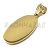 "Solid Brass Gold Diamond Cut Guadalupe Pendant w/ 5mm 24"" Concave Cuban Chain B03G - Raonhazae"