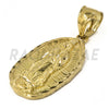 "Solid Brass Gold Diamond Cut Our Lady of Guadalupe Pendant w/ 5mm 24"" Concave Cuban Chain B04G"