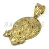 "Solid Brass Gold Diamond Cut Jesus Face Halo Pendant Solid w/ 5mm 24"" Concave Cuban Chain B08G - Raonhazae"
