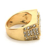 "HIP HOP SOLID ""PIMP DRAKE"" GOLD PLATED RING BK004G - Raonhazae"
