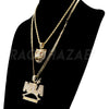 NBA NEVER BROKE AGAIN / Drake TIGER Pendant W/ Cuban and Rope Chain Set - Raonhazae