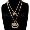 NBA NEVER BROKE AGAIN / CENTAUR Pendant W/ Cuban and Rope Chain Set. - Raonhazae