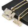 NBA NEVER BROKE AGAIN/ MONEY MOVES Pendant W/ Cuban & Rope Chain Set. - Raonhazae