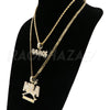 NBA NEVER BROKE AGAIN/SAVAGE Bubble Pendant W/Cuban & Rope Chain Set - Raonhazae