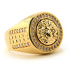 MEN'S HIP HOP LAB DIAMOND MEDUSA BRASS RING SIZE 8-12 BR002G - Raonhazae