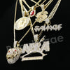 Hip NBA Drake Tiger Savage Dollar Red Ruby Pharaoh Pendant Necklace Set - Raonhazae