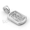 Lab diamond Micro Pave Mini Chiseled Dogtag Pendant w/ Miami Cuban Chain BR016 - Raonhazae