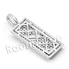 Lab diamond Micro Pave Uzi Gold Brick Mini Pendant w/ Miami Cuban Chain BR020 - Raonhazae