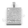 Lab diamond Micro Pave DJ Turntable Pendant w/ Miami Cuban Chain BR025 - Raonhazae