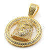 Lab diamond Micro Rounded Jesus Face Pendant w/ Miami Cuban Chain BR027 - Raonhazae