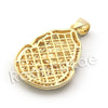 Lab diamond Micro Pave Egyptian Pharaoh Pendant w/ Miami Cuban Chain BR035 - Raonhazae