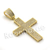Lab diamond Micro Pave Jesus Cross Grid Pendant X w/ Miami Cuban Chain BR040 - Raonhazae