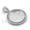 Lab diamond Micro Pave Medallion Liberty Lady Face w/ Miami Cuban Chain BR044 - Raonhazae