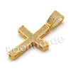 Lab diamond Micro Pave Convex Jesus Cross w/ Miami Cuban Chain BR045 - Raonhazae