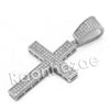 Lab diamond Micro Pave Jesus Cross Pendant w/ Miami Cuban Chain BR064 - Raonhazae