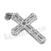 Lab diamond Micro Pave Multi Jesus Cross Pendant w/ Miami Cuban Chain BR075 - Raonhazae