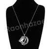 Antique Chain Saxophone Magnifying Glass Locket Pendant Necklace - Raonhazae