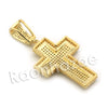 Lab diamond Micro Pave Uzi Jesus Cross w/ Miami Cuban Chain BR097 - Raonhazae