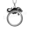 Antique Chain Vintage Elephant/ Mamoth Magnifying Glass Locket Pendant Necklace - Raonhazae
