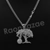 "14K PT Gold MONEY TREE Pendant W/5mm 24"" 30"" Cuban Chain - Raonhazae"