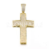 New Lab diamond Micro Pave JUMBO 2PAC Cross Pendant. - Raonhazae