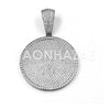 New Lab diamond Micro Pave JUMBO Medallion Pendant. - Raonhazae