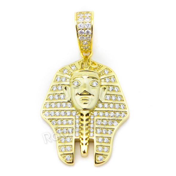 "Sterling Silver .925 AAA Lab Diamond King-tut w/2.5mm 20"" 24"" Moon Cut Chain G48 - Raonhazae"
