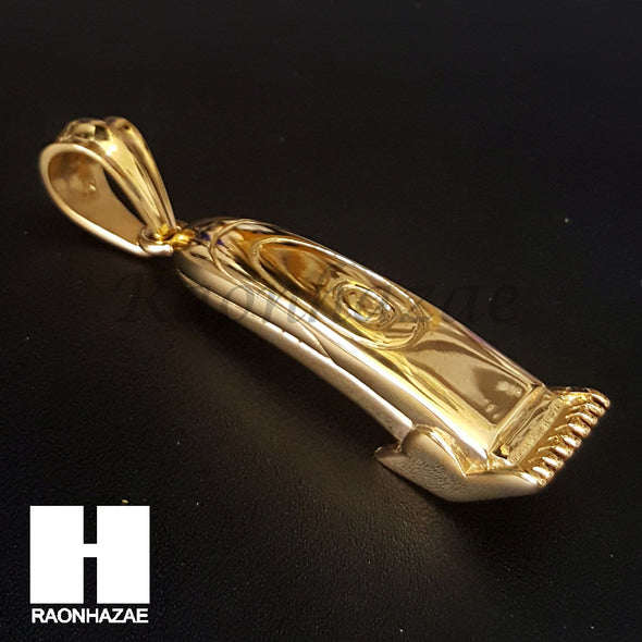 316L Stainless steel Gold Barber Clipper Trimmer Pendant SS017 - Raonhazae