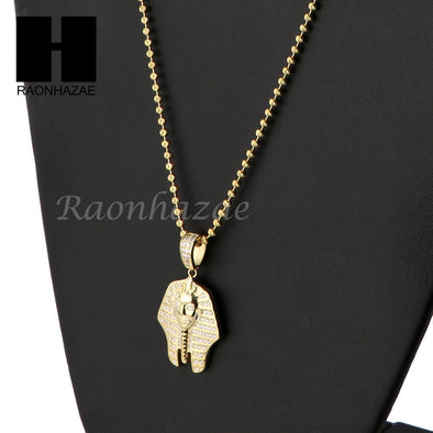 Sterling Silver .925 AAA Lab Diamond King-Tut 2.5mm Moon Cut Chain SS07 - Raonhazae